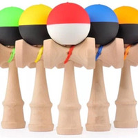 Wholesale 100pcs cm jumbo rubber Paint Kendama Ball toy Skillful Jling Game Ball Japanese Traditional Toy Balls Educational Toys DHL