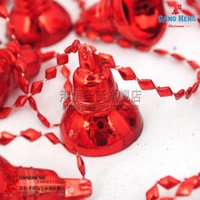 bell wall hanging - Christmas tree decorations cm red light wall clock bell series of g supplies natal snowflake crafts hanging party supplies