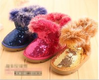 Wholesale New Arrival Baby Girls Children Snow boots Kids Winter Boots Children Snow Boots Warm Shoes Boy Girl Rabbit fur boots Snow Boots G3001