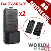 Wholesale mAh AA Extended Battery Case For Baofeng UV R RA UV RE Plus TYT TH F8 Radio Need AA Battery