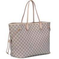 Wholesale Hot selll and retail new bags handbags shoulder bags tote bags purse Beige coffice plaid color pick N51106 lady520