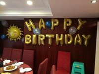 Wholesale 16 inch Mylar Foil Balloon Perfect Large English Letters A Z For Christmas Birthday Party Wedding Decoration GNW
