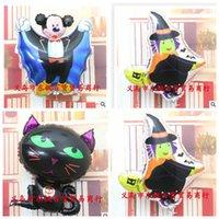 air balloon festival - New Brand Classic Halloween Cartoon Modelling Balloon Black Cat Vampire Mickey Witch Foil Air Ball Spirit Festival Supplies