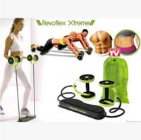 ab band - Revoflex Xtreme Fitness Abdomen Machine Fitness Equipment Abdominal Slim Trainer AB Trainer Body Slimming Exercise Bands Rope LJJE195