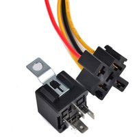 Wholesale 12V DC A AMP Car Pin Wire Harness motorcycle Auto AUTOMOTIVE Relay Socket