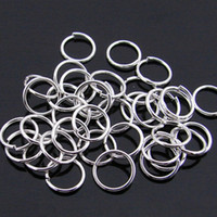 Wholesale 1000 pieces per jewelry accessory tibetan silver tone open split jump rings findings mm