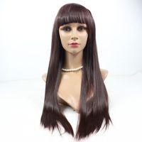Wholesale Glueless Full Lace Wig Human Hair Straight Brazilian Virgin Hair B