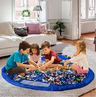 Sacs sac portable enfants rangement des jouets 150cm Portable tapis de jeu Toy stockage pour enfants Nylon enfants enfants jouant Mat Blanket 10pcs DDA2783