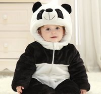 Wholesale New Arrival Baby One Piece Winter Pajamas Cartoon Costume Lovely Chinese Panda Home Dress Sleepwear Children Most Wanted Christmas Gifts