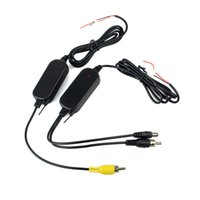 Wholesale 2 G Wireless Audio AV Color RCA Video Transmitter Receiver For Car Rear View Backup Camera Monitor Q4062A