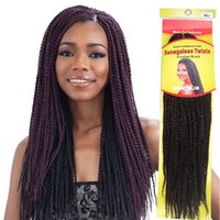 Wholesale senegalese twist braid hair kanekalon afro kinky braids hair extensions inches kinky hair braid pieces