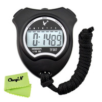 Wholesale Handheld Digital Stopwatch Single Row Memory Electronic Sports Stopwatch Timer Chronograph Ergonomic Design Calendar MB018H R30