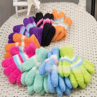 Wholesale 2015 new children Baby glove mittens children wool gloves multi color stitching fingers warm gloves many colors