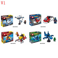 Wholesale The Avengers design Captain America Spider Man Batman Building Blocks New Superhero Movie DIY Bricks Toys WG64