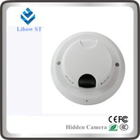 Wholesale ST smoke detector wireless wifi hidden cam remote minitor by andriod iphone