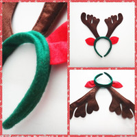 accessory suppliers - Brown Christmas Headbands Red Ear Deer Children Adults Hair Accessories Christmas Suppliers Home Festive Party Reindeer Hair Accessories
