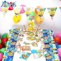 Wholesale Luxury Kids Birthday Decorations Set Cartoon Theme Minions Princess Hello Kitty Party Birthday Supplies For Baby S30163