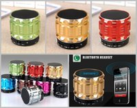 Ranura para tarjeta TF S28 metal mini portátil Bluetooth Speaker W / Mic + Manos libres, altavoces estéreo para ordenador portátil / PC / MP3 / MP4 Player