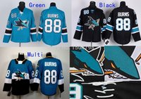Wholesale Factory Outlet Cheap NHL Men s San Jose Sharks Brent Burns Hockey Jerseys Green Black New Stitched Jersey Embroidery Logo Size M