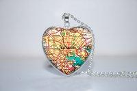 baltimore gift - 10pcs Baltimore Map Pendant Baltimore heart Necklace Glass Photo Cabochon Necklace