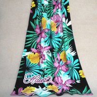 beach hibiscus - Hawaii foreign trade towel romantic purple Hibiscus beach towel Cotton Towel strong water