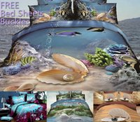 quilts - UPS Free Spring Cheap D Bedding Sets Sea Bottom Beautiful Scenery Pattern Design Printed Comforter Sets Queen size Quilt Cover