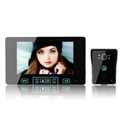 2.4Ghz Wireless video door phone - 7 quot LCD Monitor GHz Touch Button Wireless Video Door Phone Intercom Doorbell Unlocking Camera with Solar Charger
