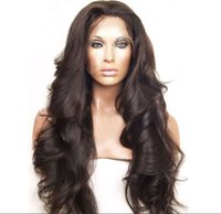 Wholesale 7A Natural hairline virgin brazilian glueless full lace wigs human hair front lace wigs wavy natural color with baby hair