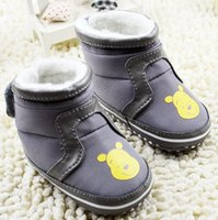 bear boots sale - 2015 cartoon bear gray waist plus thick cotton baby toddler boots Children warm snow boots baby wear outlets hot sale pair cl