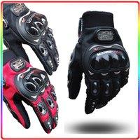 Wholesale Motorbike Racing Gloves Motorcycle Men New Racing Bike Bicycle MTB Cycling Full Finger Protective Gloves Black Red Blue