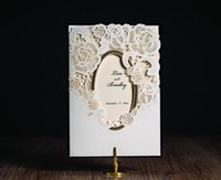 invitation letter - 2016 NEW Wedding invitations crad Custom Print Sweet white bowtie flower folding wedding cards personalized invitations Free design CW5185