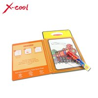 baby cardboard books - XC1391 New arrives Magic Kids Water Drawing Book with Magic Pen Intimate Coloring Book Water Painting Board