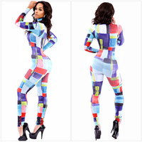 beige tiles - New Fashion Trendy Stand Collar Peruvian Tile Jumpsuit Women Elegant Overalls Rompers Size M L N6681