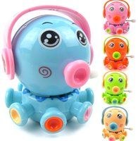 Wholesale funny toot small octopus plastic Wind up toys Chassis rotation Cartoon marine life little Octopus children toys