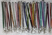 bling lanyards - Long Bling Lanyard Crystal Rhinestone in Neck Badge Holder for Mobile phone