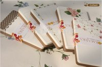 Wholesale cm Floral Dots Rose Packaging Cards floral printed bookmarks Paper Message cards tag