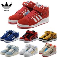 velcro - Adidas Originals Forum Mid Men Women Fashion Casual Shoes Original New Arrival Classic Trainers Cheap Sneakers High Cut Skate Shoes