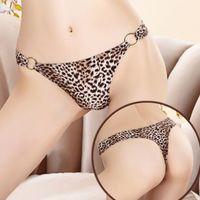 Wholesale New ladies sexy cotton underwear for women gifts nylon bikini panties thong g string underwear brief woman Korean wild temptation leopard