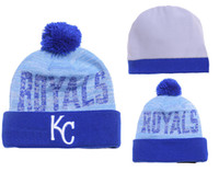 Wholesale KC Royals Beanies Blue Royals Beanies Winter Warm Beanies for Fans Beanies Popular Royals Caps Top Selling Sports Teams Beanies for Cheap
