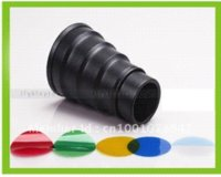 Appareil photo Photo Photo <b>Snoot Honeycomb</b> Compact Flash Strobe universel pour l'éclairage photographique Accessoires de studio photo