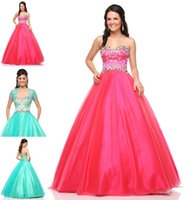 Wholesale 2015 Rhinestone Quinceanera Dresses With Wraps Sweetheart Ball Gown Lace up Debutante Dresses Prom Gown
