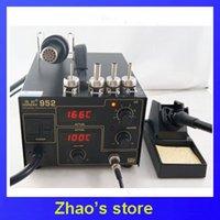 Cheap 220V 110V Gordak 952 2 in 1 Desoldering Station Hot Air Gun Soldering Iron