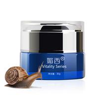 Wholesale 2pcs AQIONG face lift face care Snail moisture cream g whitening Moisturizing remove yellow Acne scars skin care