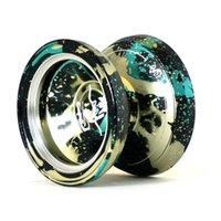 acid green - MAGICYOYO Yostyle M002 April Acid Wash Color Anodized Surface and Stainless Center Bearing Army Green
