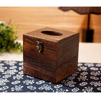 bathroom storage box - Japanese Wood Tissue Box Holder Cover Home Decor Bathroom Storage cm