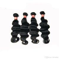 "Venda 6A Hot Malaysian Virgem Cabelo onda profunda 4Pcs / Lot 100% Human Hair Extension Natural Negro Cor 8 ""-30"" polegadas frete grátis"