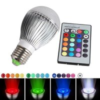 Wholesale Rememberable E27 W LED RGB Magic Bulb Lamp Led Lights With IR Remote Control Hot Selling