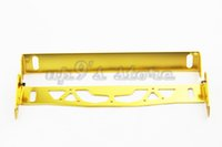 Wholesale Adjustable Aluminum Car Styling Number Plate License Plate Frame Holder Yellow