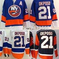 best kyle - New York Islanders Kyle Okposo Jersey Home Blue Navy White Best Embroidery Men s Cheap Ice Hockey Jerseys
