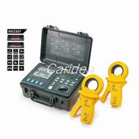 Wholesale MASTECH MS2307 Intelligent Earth Resistance Tester Meter USB2 Port with Clamps and Current Leakage kit